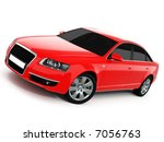 red business class car on a... | Shutterstock . vector #7056763