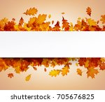 autumn background with golden... | Shutterstock .eps vector #705676825