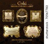vector vintage gold frames.... | Shutterstock .eps vector #70567783