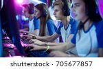 team of professional esport... | Shutterstock . vector #705677857