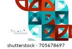 business presentation geometric ... | Shutterstock . vector #705678697