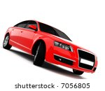 red business class car on a... | Shutterstock . vector #7056805