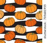 seamless pattern with fresh... | Shutterstock .eps vector #705681955