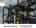 close up industrial zone. plant ... | Shutterstock . vector #705682225