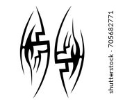 tribal tattoo art designs.... | Shutterstock .eps vector #705682771
