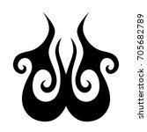 tribal tattoo art designs.... | Shutterstock .eps vector #705682789