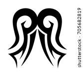 tribal tattoo art designs.... | Shutterstock .eps vector #705682819