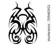 tribal pattern tattoo vector...   Shutterstock .eps vector #705682921