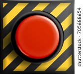 red panic button sign vector.... | Shutterstock .eps vector #705688654