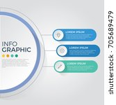 infographic element vector with ... | Shutterstock .eps vector #705689479