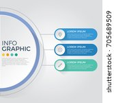 infographic element vector with ... | Shutterstock .eps vector #705689509