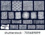 doodles set. scribble... | Shutterstock .eps vector #705689899