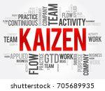 kaizen word cloud collage ...   Shutterstock .eps vector #705689935