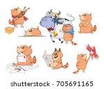 set cartoon illustration. a...   Shutterstock . vector #705691165