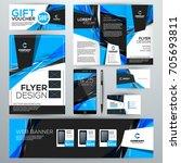 set of stationery design... | Shutterstock .eps vector #705693811