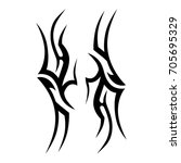 tribal tattoo art designs.... | Shutterstock .eps vector #705695329