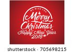 merry christmas vector text... | Shutterstock .eps vector #705698215