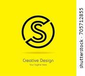 initial s circle framed letter...   Shutterstock .eps vector #705712855