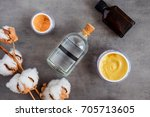 spa cosmetic products on dark... | Shutterstock . vector #705713605