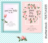 save the date card  wedding... | Shutterstock .eps vector #705714355