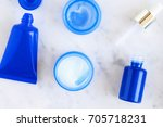 skincare cosmetic products from ... | Shutterstock . vector #705718231