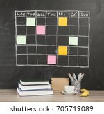 grid timetable schedule with... | Shutterstock . vector #705719089
