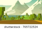 farmland rural cartoon... | Shutterstock . vector #705722524