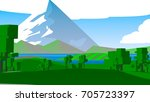 farmland rural cartoon... | Shutterstock . vector #705723397
