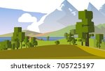 farmland rural cartoon... | Shutterstock . vector #705725197