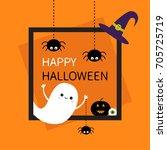 Happy Halloween. Square Frame....