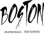 boston text sign illuatration... | Shutterstock .eps vector #705725935