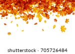 autumn background with golden... | Shutterstock .eps vector #705726484