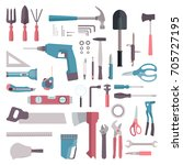 home tool icon collection. top... | Shutterstock .eps vector #705727195