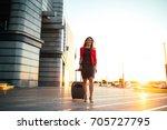 full length portrait of a well...   Shutterstock . vector #705727795