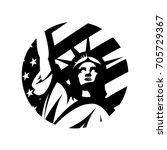 Liberty Statue Vector Logo...