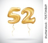 raster copy golden number 52... | Shutterstock . vector #705734869