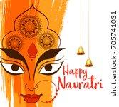 illustration of happy navratri... | Shutterstock .eps vector #705741031