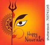 illustration of happy navratri...   Shutterstock .eps vector #705741145