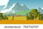 farmland rural cartoon... | Shutterstock . vector #705743707
