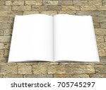 opened book template with soft... | Shutterstock . vector #705745297