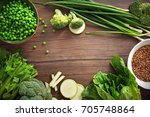 ingredients for kale soup on... | Shutterstock . vector #705748864