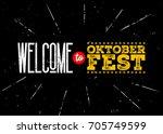 octoberfest vector emblem.... | Shutterstock .eps vector #705749599