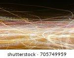 lighting effect  multicolored... | Shutterstock . vector #705749959