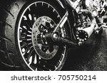 Motor Bike Detail   Rear Wheel...