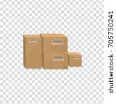 illustration of carton box icon ...