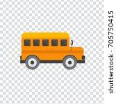 illustration of school bus icon | Shutterstock .eps vector #705750415