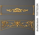 3d Rendering Gold Stucco Frame