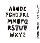 vector alphabet  scandinavian... | Shutterstock .eps vector #705762094