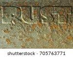 rust lettering rusty oxidizing... | Shutterstock . vector #705763771
