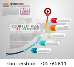 infographic timeline template... | Shutterstock .eps vector #705765811